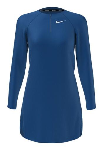 Nike blue Nike Swim Women's Essential Long Sleeve Tunic - Blue 285D6US9074078GS_1