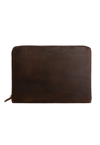 EXTREME brown Extreme Macbook Pro Genuine Leather Case ED372AC6A5F03AGS_1