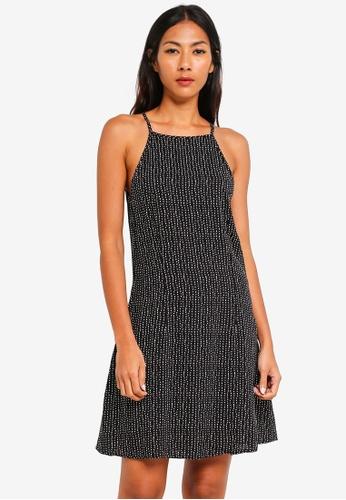Factorie black High Neck Slip Dress EBC55AA522BF41GS_1