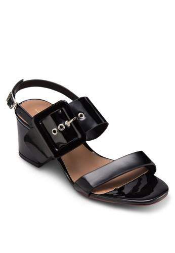MC 扣esprit 內衣環飾粗跟涼鞋, 女鞋, 鞋
