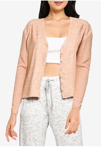 GAP pink Adult Softspun Ribbed Cardigan 49D03AA13FF9C4GS_1