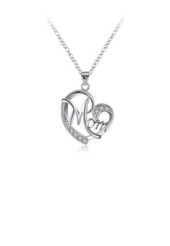 Glamorousky white Sweet Heart Pendant with Cubic Zircon and Necklace 3796FAC8112710GS_1