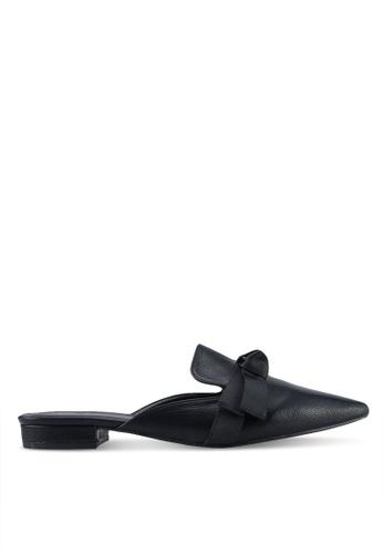 Something Borrowed black Ribbon Slip-on Flats 47EABSH14116E0GS_1