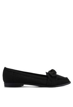 8b5eeb21a51 Dorothy Perkins black Black Leah Bow Loafers 3C557SHF6EA503GS 1