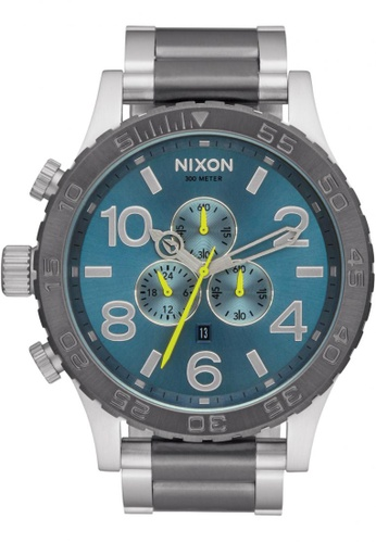 Nixon grey and green and blue Nixon - 51-30 Chrono - Gunmetal/Aqua NI855AC26KHDSG_1