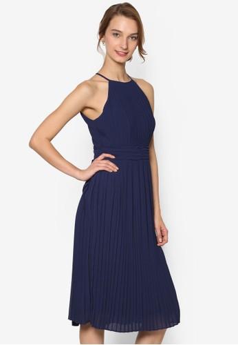 Serene 細褶削肩及膝洋裝, zalora 心得 ptt服飾, 洋裝