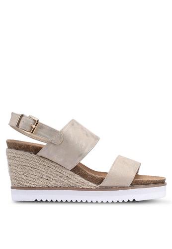 Carlton London 金色 楔型涼鞋 0A5B3SHB7196A8GS_1