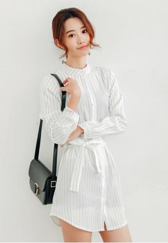 Shopsfashion white Juki Shirt Dress in Off White SH656AA57GVESG_1