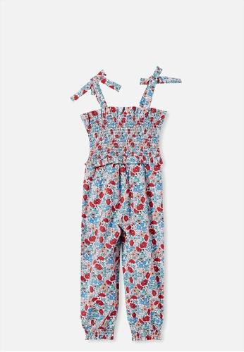 Cotton On Kids multi Imogen Shirred Jumpsuit E13CAKA6692BCAGS_1