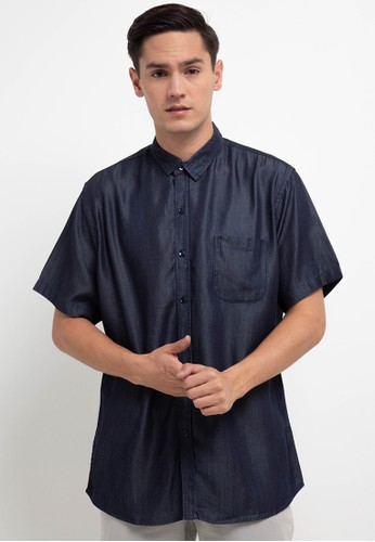 Salt n Pepper black S/S-Men Shirt 439A4AA6530E55GS_1