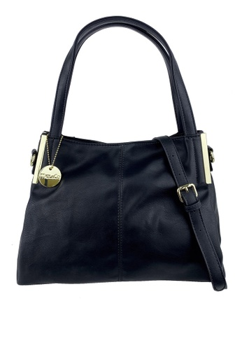 Mel&Co black Faux Leather Double Handle A07BCAC7BE4FA4GS_1
