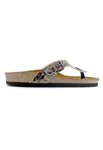 SoleSimple 多色 Prague - 豹紋銅色 百搭/搭帶 軟木涼鞋 271D9SH4080322GS_1