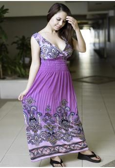 Women's Casual Printed Long Dress