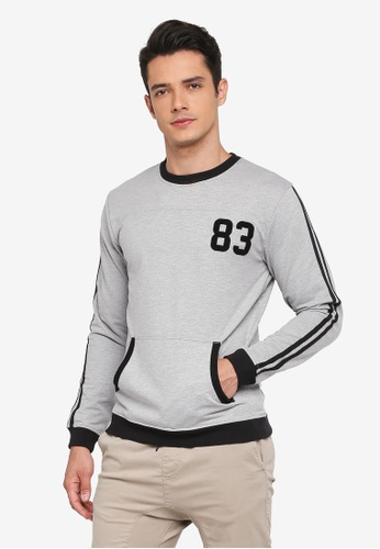 Marc & Giselle grey Long Sleeve Sweater F6A30AA4CD36FCGS_1