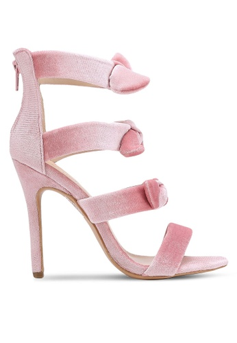 Velvet pink Satin Strappy Heels DB8CAZZED8CDACGS_1