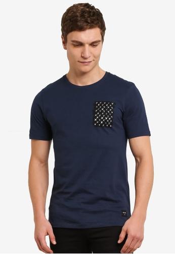 Only & Sons blue Amdi Short Sleeve Tee ON662AA0S5OVMY_1