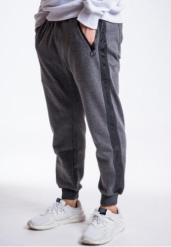 L.I.M.I.T.E grey 3M Trim fabric with Printed Sweat Pants B22B5AA5E4310CGS_1