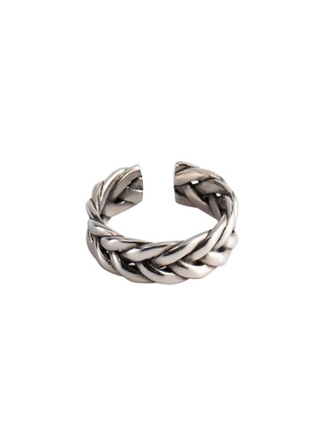 A-Excellence silver Premium S925 Sliver Twine Ring AD1EAAC8E1C1ECGS_1