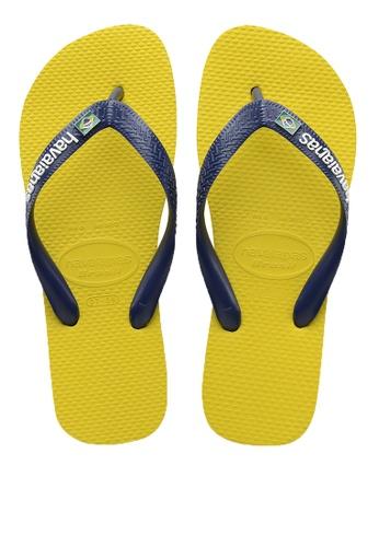 Havaianas yellow Brasil Layers Flip Flops 12EE6SHF0903CBGS_1