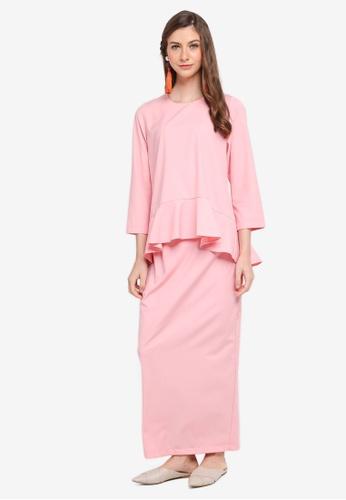 MASTULI KHALID pink Lapis India Kurung in Pink 12923AA20842A6GS_1