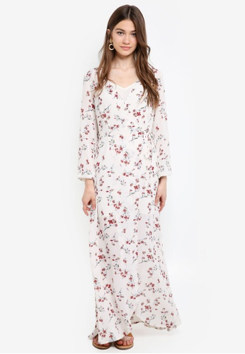 Something Borrowed white 2 in 1 Wrap Maxi Dress 3F90CAAA707968GS_1