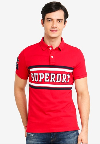 Superdry 紅色 Classic Short Sleeve Applique Polo Shirt 57CB4AA9C73109GS_1