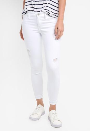 Hollister white White Destroy Advance Crop Jeans FCFDDAA966BD2FGS_1