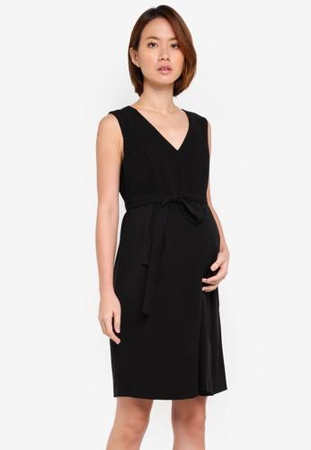 JoJo Maman Bébé black Maternity Tailored Dress 85799AA6E13877GS_1