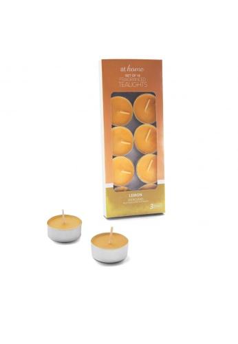 At Home orange Lemon Scent 10pcs Tealight Candles 65E53HLD4AED45GS_1
