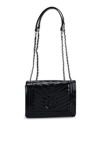 Guess black Lida Convertible Flap Crossbody Bag F70EDACBB2F1D3GS_1