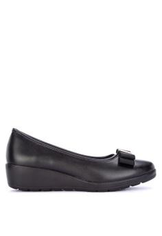 639ddde379 Mendrez black Aria Round Toe Flats 72275SH8F5E35DGS 1