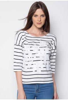 Floral + Stripes Pullover