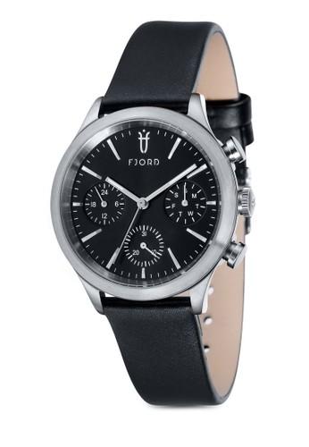 AGNA 多功能皮革圓錶, 錶類, zalora鞋子評價皮革錶帶