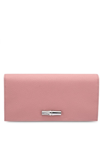 LONGCHAMP pink Roseau Wallet C60CFACDC54B09GS_1