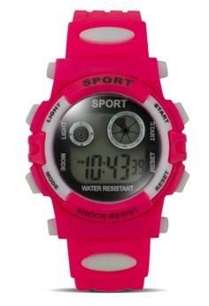 Sport Women's Pink PVC Strap Watch SWR-805-6