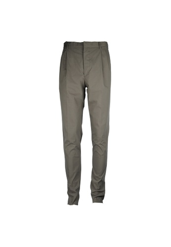 Prada grey Prada Two Pleats Button Fornt Pants in Grey E80A8AADCB2476GS_1