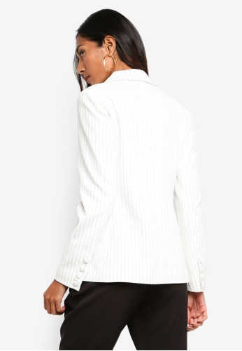 db389f2b0e86df Buy Forever New Petite Eleanor Pinstripe Blazer Online