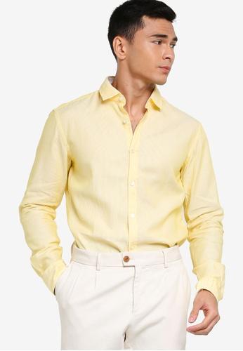 BOSS 黃色 Rikki_53 Shirt - BOSS Men 8922EAADA517B4GS_1
