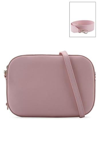 Pop & Suki 粉紅色 Bigger Camera Bag & Short Wide Strap Set PO965AC0MR7UTW_1