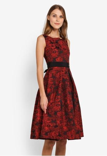 Megane red Red Romance Vedette 3D-Flower Dress ME617AA0SLATMY_1
