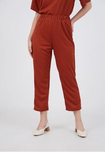 Berrybenka Label red Sophie Kardina Straight Pants Terracotta 5DDEEAAFD954A5GS_1