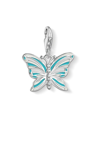 "THOMAS SABO silver Charm pendant ""butterfly"" 291D7AC28BB65BGS_1"