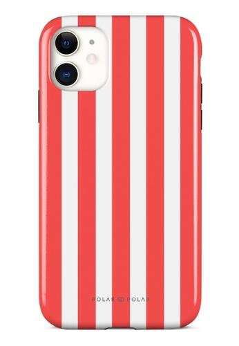 Polar Polar red Scarlet Stripe Dual-Layer Tough Case Glossy For iPhone 11 8CB0BAC309CB75GS_1