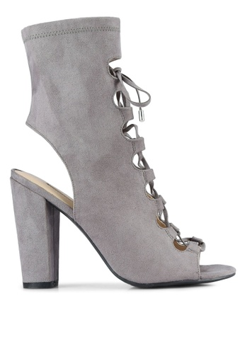 Guess grey Lace Up High Cut Heels GU020SH0S7LCMY_1