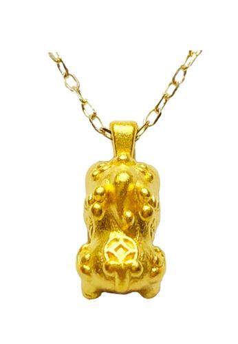 LITZ gold [SPECIAL] LITZ 999 (24K) Gold Baby Pixiu Pendant with 9K Yellow Gold Chain 宝宝貔貅牌项链 EP0279-N FB0F0ACCB1200DGS_1