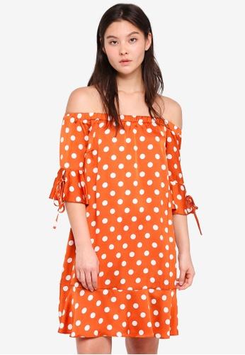 Glamorous red Off Shoulder Dress 89F41AA7C5F110GS_1