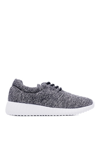 Life8 black Lightweight Bicolor Knit Casual Shoes-09149-Black LI283SH42KURSG_1