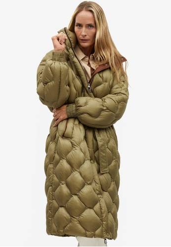 Mango green Long Quilted Down Anorak A9A79AA69CCF05GS_1
