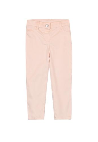 LC Waikiki pink Baby Girl's Gabardine Trousers BA878KA65B0A87GS_1