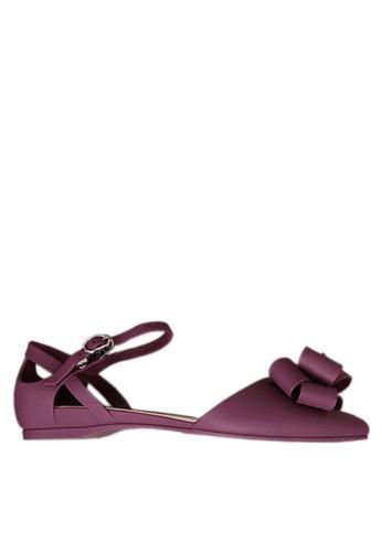 Twenty Eight Shoes 紫色 立體蝴蝶中空果凍膠平底鞋 VR5135 4DCC5SH05E90EAGS_1